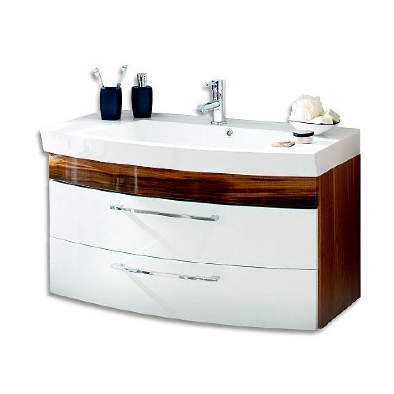 Badmöbel Badezimmer Gästebad Waschplatz Rima,100 cm breit,