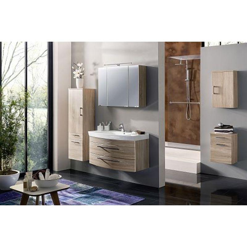 badm bel badezimmer rima 5 teilig komplett sonoma eiche mdf. Black Bedroom Furniture Sets. Home Design Ideas