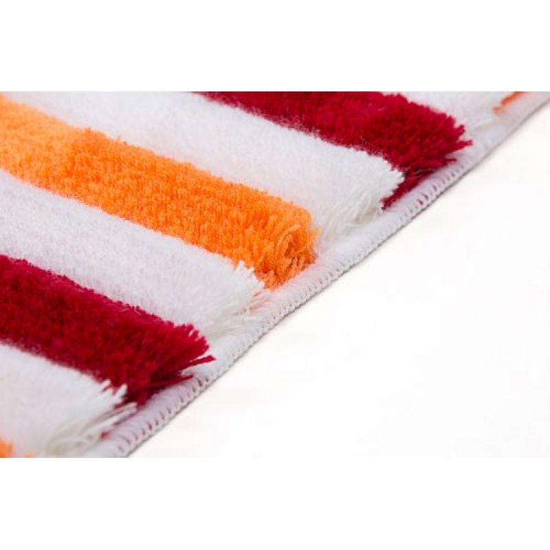 badteppich teppich my illawarra 4040 hochflor orange rot 49 90 eu. Black Bedroom Furniture Sets. Home Design Ideas