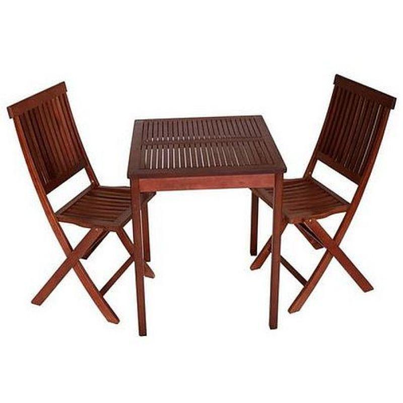 Balkonset Gartengarnitur Sitzgarnitur Tisch Stuhl 3 Teilig Eukalyptu
