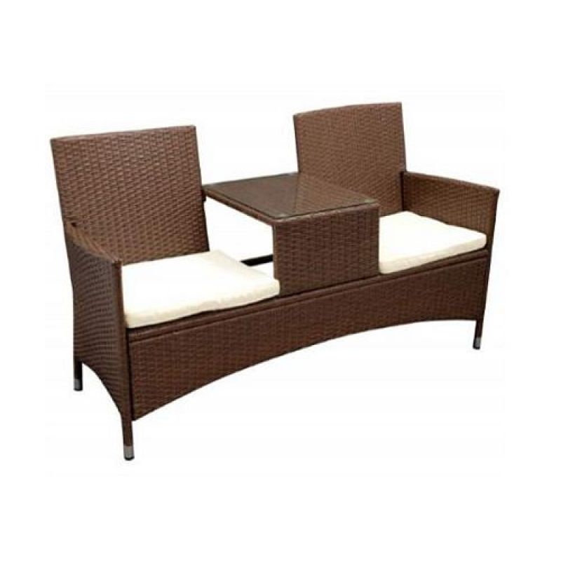 bank gartenbank tete tete bank 2 sitzer polyrattan 143 00. Black Bedroom Furniture Sets. Home Design Ideas