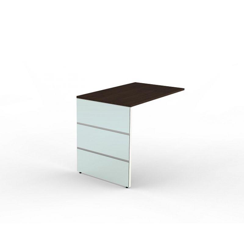 B ro anbau schreibtisch lugano 100x60 cm wangen gestell for Schreibtisch 70 cm