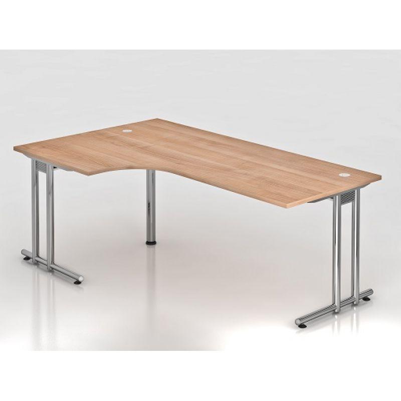 b ro schreibtisch 200x120 cm winkelform modell ns82c mit chromf. Black Bedroom Furniture Sets. Home Design Ideas