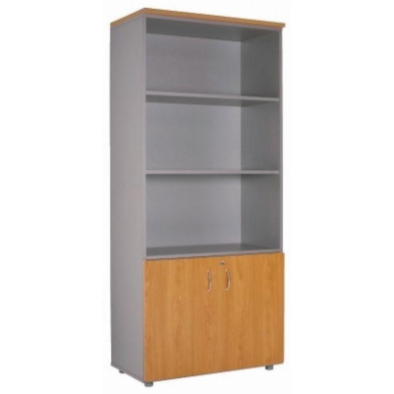 Büroschrank Ablageschrank 198 cm 2 kleine Türen
