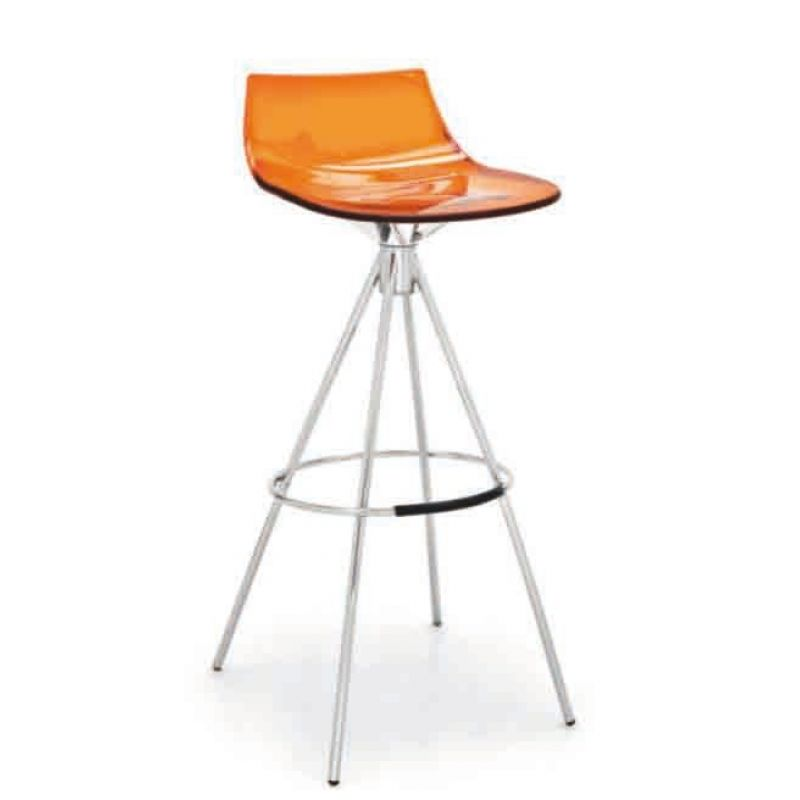 Barhocker Design design barhocker dizzy 3 acryl sitzfläche gestell chrom 154 23