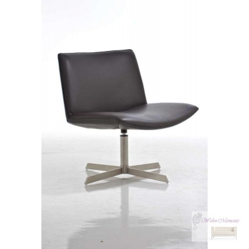 Design Lounge Sessel Lucille Edelstahl Leder Optik Schwarz Pictures to