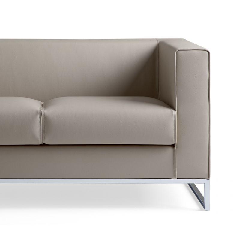 design sofa lounge klasse 2 sitzer einfarbig gestell verchromt 719 0. Black Bedroom Furniture Sets. Home Design Ideas
