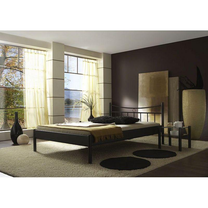 metallbett einzelbett jugendbett doppelbett svenja struktur schwarz. Black Bedroom Furniture Sets. Home Design Ideas