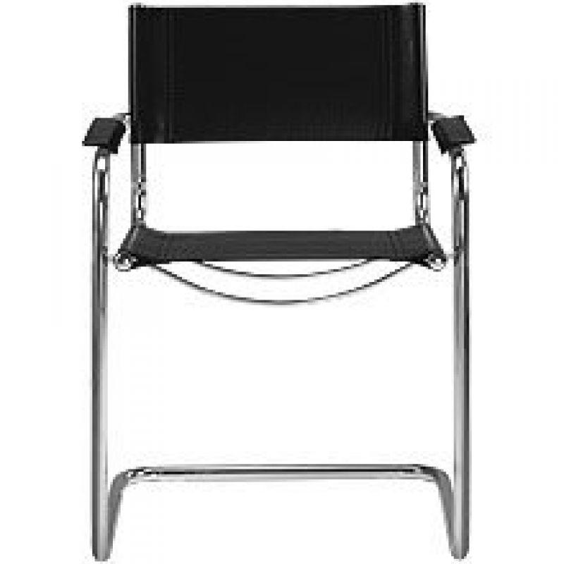 freischwinger leder classic schwarz 79 00. Black Bedroom Furniture Sets. Home Design Ideas