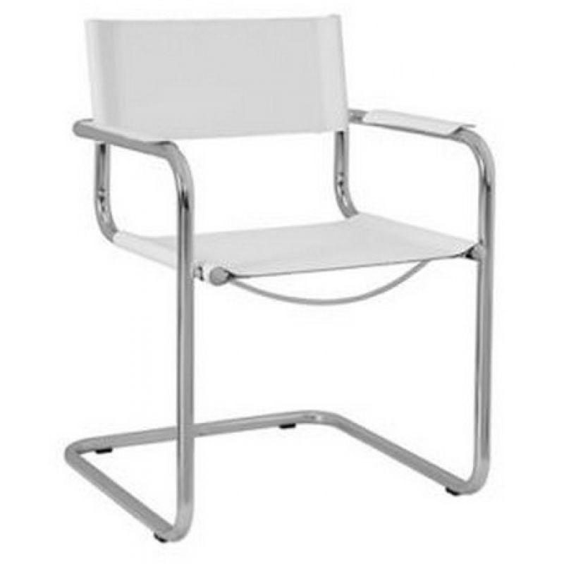 Freischwinger Stühle Leder Weiss ~ ArtikelNr 5432022WSQ Lieferstatus  10 Werktage Lieferzeit  2  3