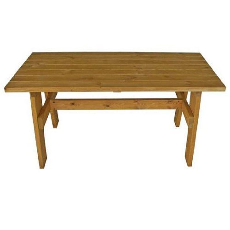 gartentisch holztisch tisch aus kiefernholz massiv helbraun 150 x 70. Black Bedroom Furniture Sets. Home Design Ideas
