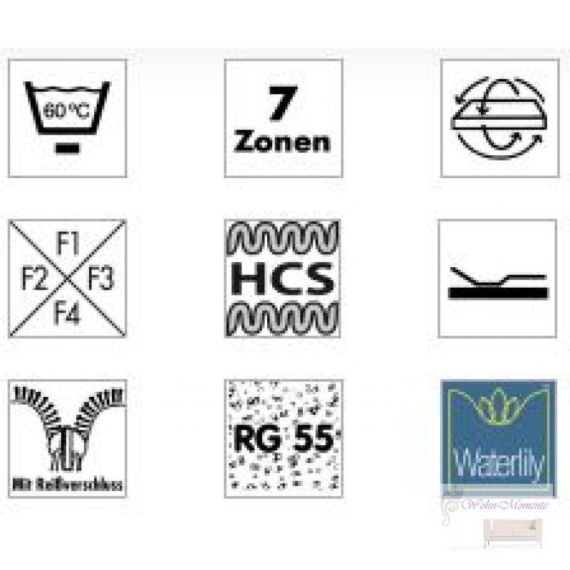 hukla matratze emotion pro ks 90 x 190 cm 7 zonen waterlily kern. Black Bedroom Furniture Sets. Home Design Ideas