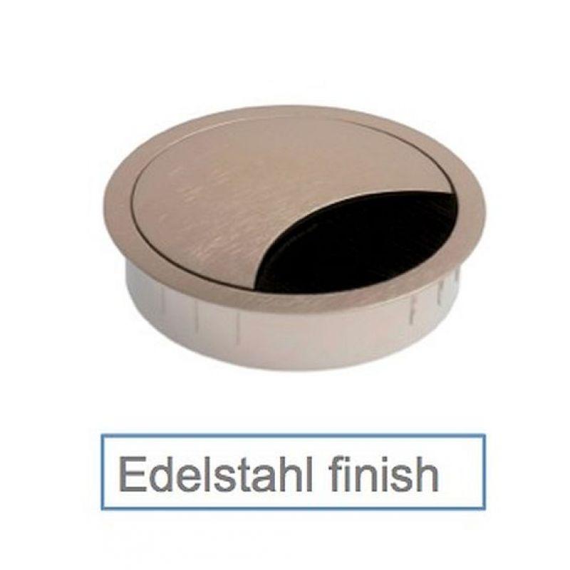 Kabeldose rund, Kabeldurchführung Zamak, 80 mm Durchmesser, H&ou
