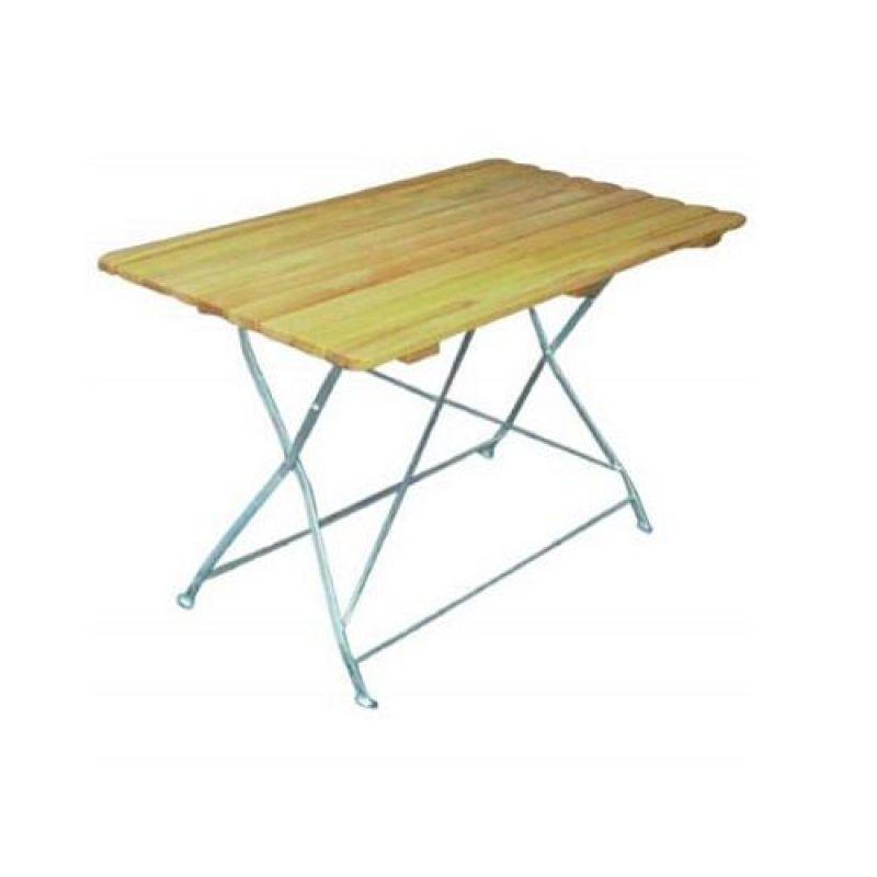 Klapptisch Holztisch Gartentisch Tisch Gestell Verzinkt 70x110 Cm 1
