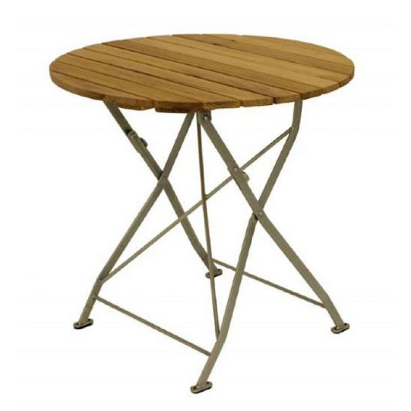 klapptisch holztisch gartentisch tisch rund gestell verzinkt 70cm 1. Black Bedroom Furniture Sets. Home Design Ideas
