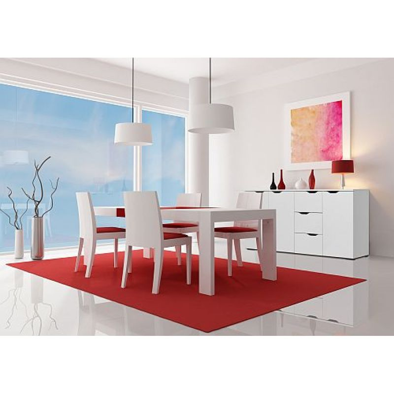 Kommode Sideboard 7278 In Weiss Hochglanz Icy Weiss 160