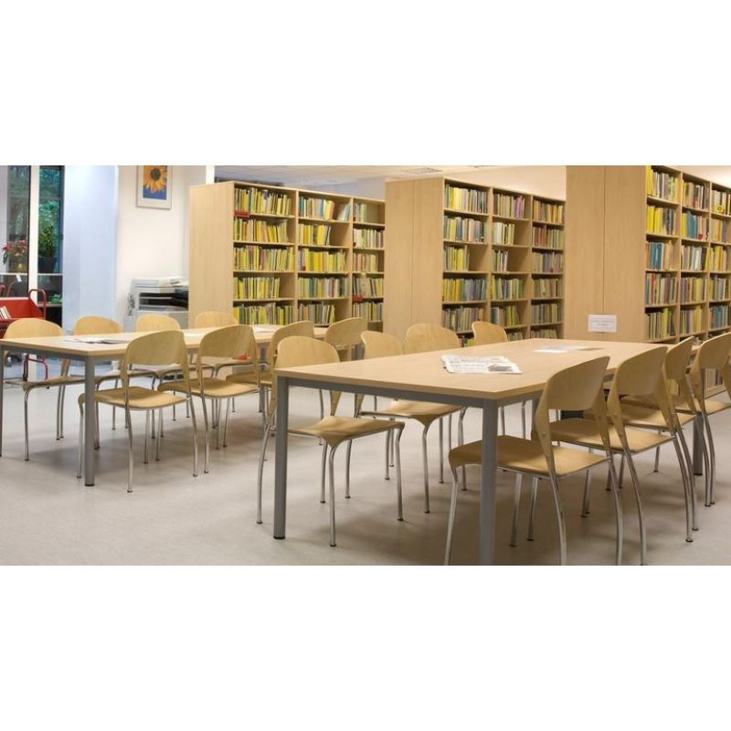 konferenztisch b rotisch e10 toro 140 x 70 cm quadratrohrgestell. Black Bedroom Furniture Sets. Home Design Ideas