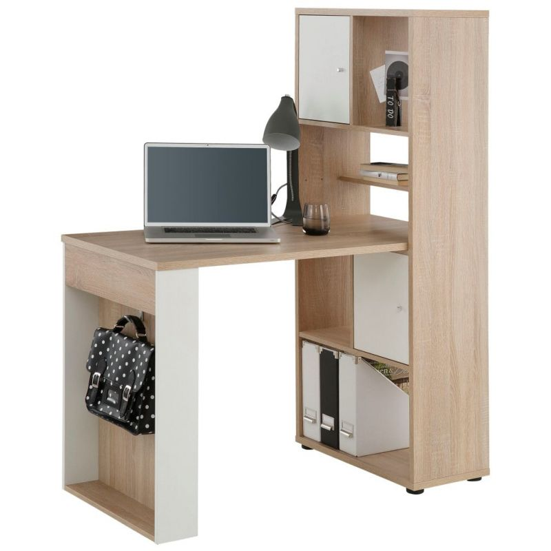 maja schreibtisch computertisch minioffice mit regal 40142534 verschi. Black Bedroom Furniture Sets. Home Design Ideas