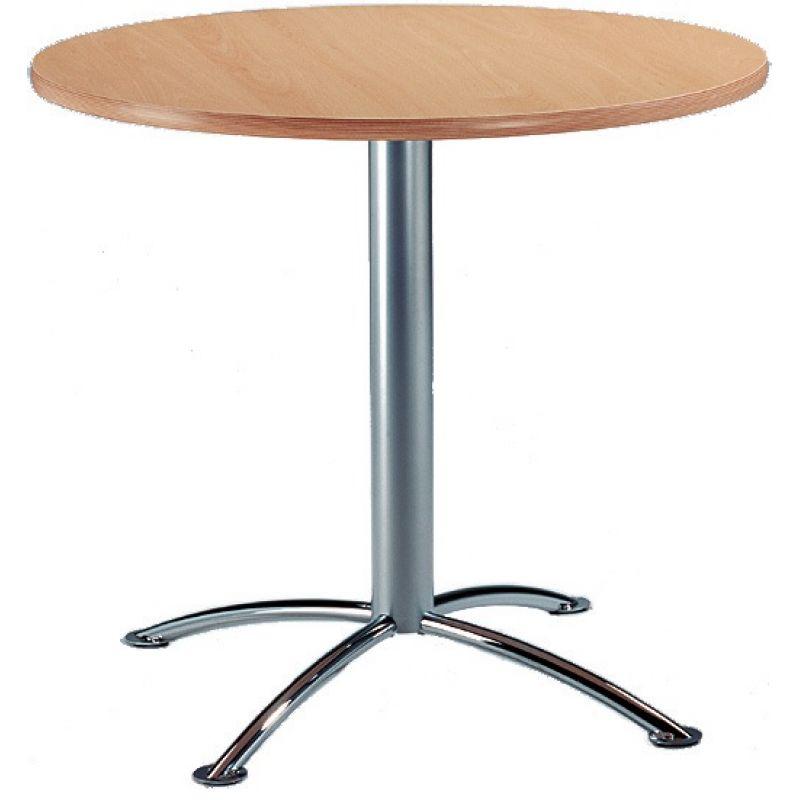 mayer bistro tisch beistelltisch 3405 80cm rund silber buchefarbig 1. Black Bedroom Furniture Sets. Home Design Ideas