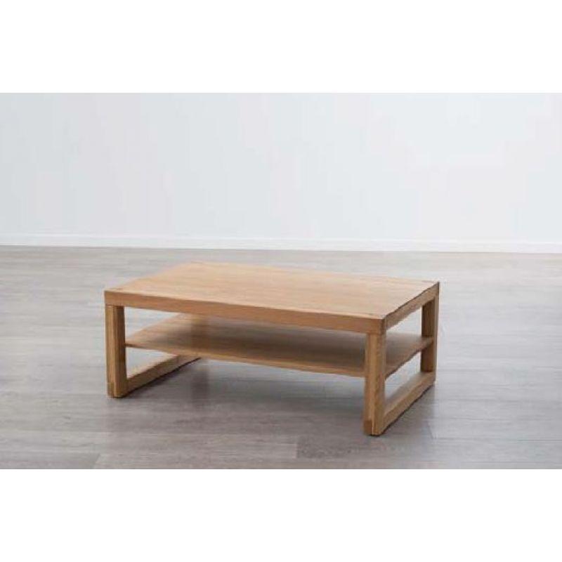 moderner massivholz couchtisch ct 812 wildeiche mit ablageboden und r. Black Bedroom Furniture Sets. Home Design Ideas