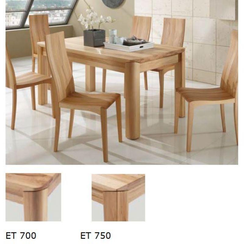 moderner massivholz esstisch et700 750 wildeiche 659 00. Black Bedroom Furniture Sets. Home Design Ideas
