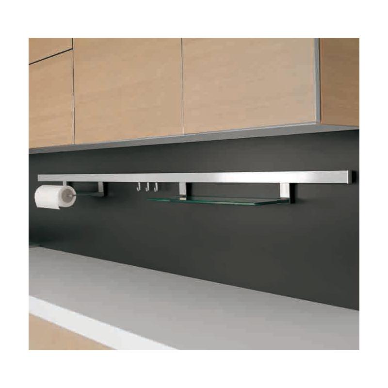 Relingsystem Küche | Naber Relingsystem Relista Alto Set Edelstahlfarbig 90 Cm Lang 64 00