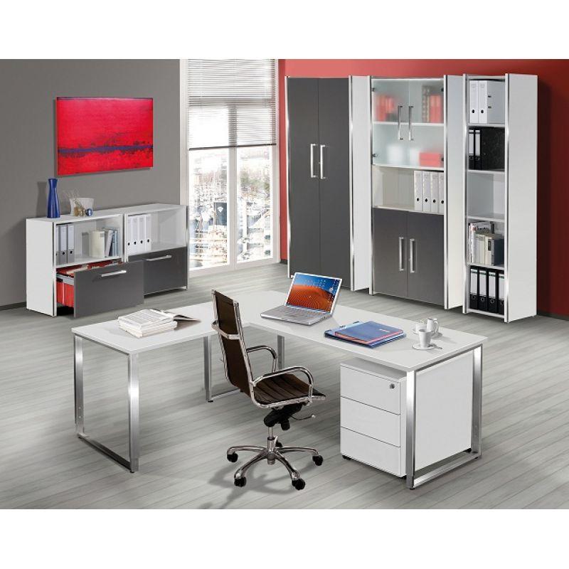 schreibtisch aveto edelstahl h henverstellbar 160x80 cm kufen ge. Black Bedroom Furniture Sets. Home Design Ideas