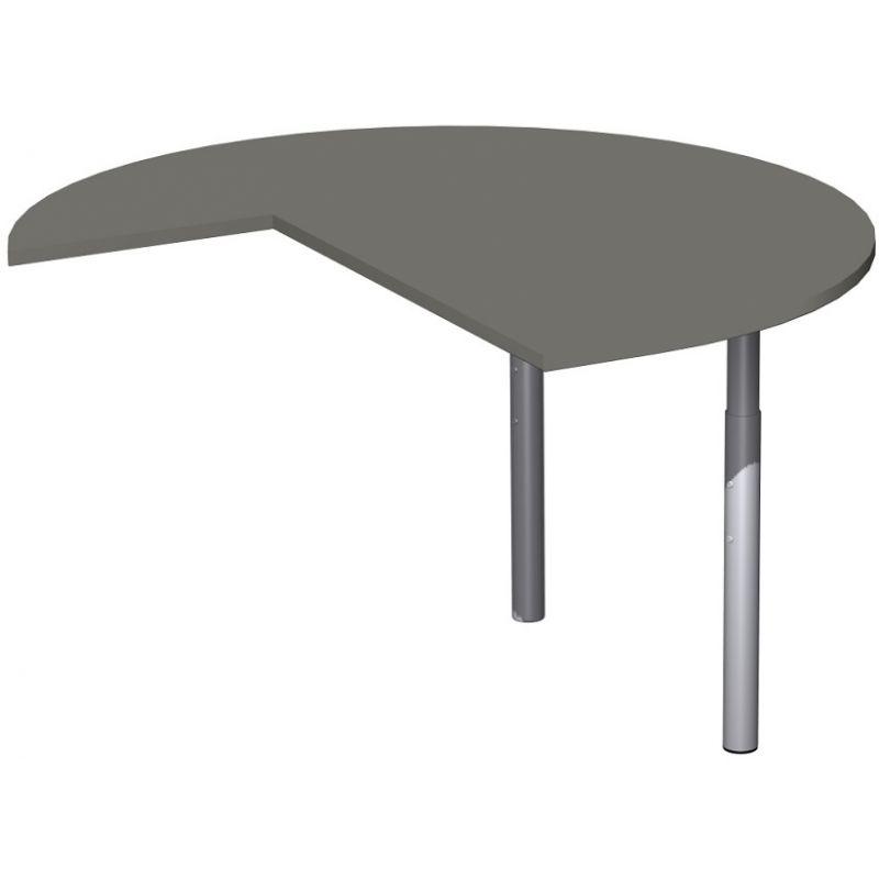 schreibtisch b rotisch anbautisch dreiviertelkreis rechts. Black Bedroom Furniture Sets. Home Design Ideas