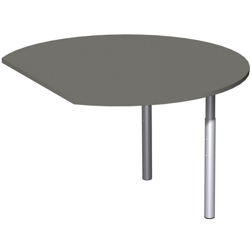 schreibtisch b rotisch t fu flex anbautisch rund 120 x 1. Black Bedroom Furniture Sets. Home Design Ideas