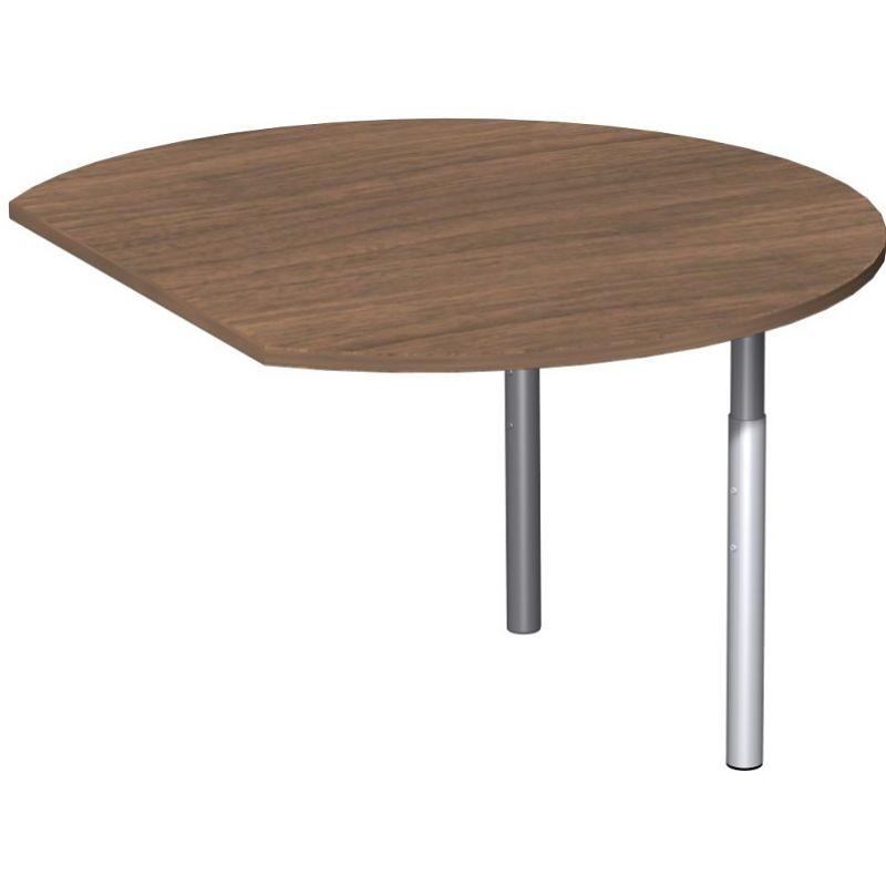 Schreibtisch b rotisch t fu flex anbautisch rund 120 x 1 for Schreibtisch rund