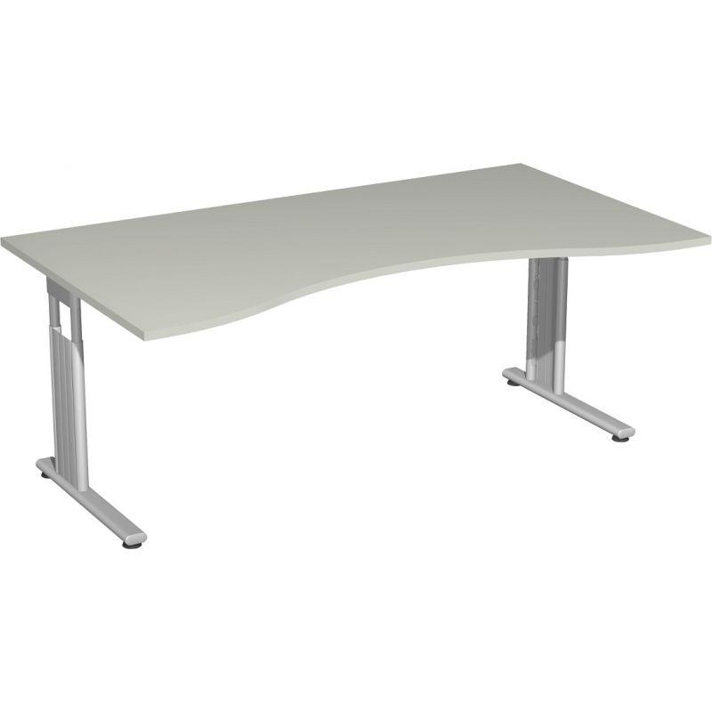 Schreibtisch Burotisch C Fuss Flex Ergonomieform 160 X 100