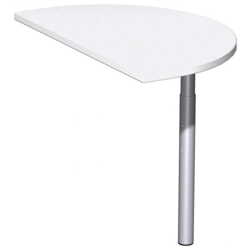 Schreibtisch Burotisch C Fuss Pro Anbautisch Halbrund 50 X