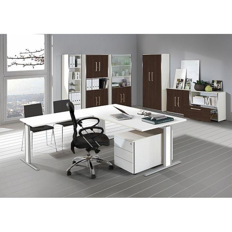 kerkmann schreibtisch 3707 form 4 120x80x68 82 cm c fu gestel. Black Bedroom Furniture Sets. Home Design Ideas