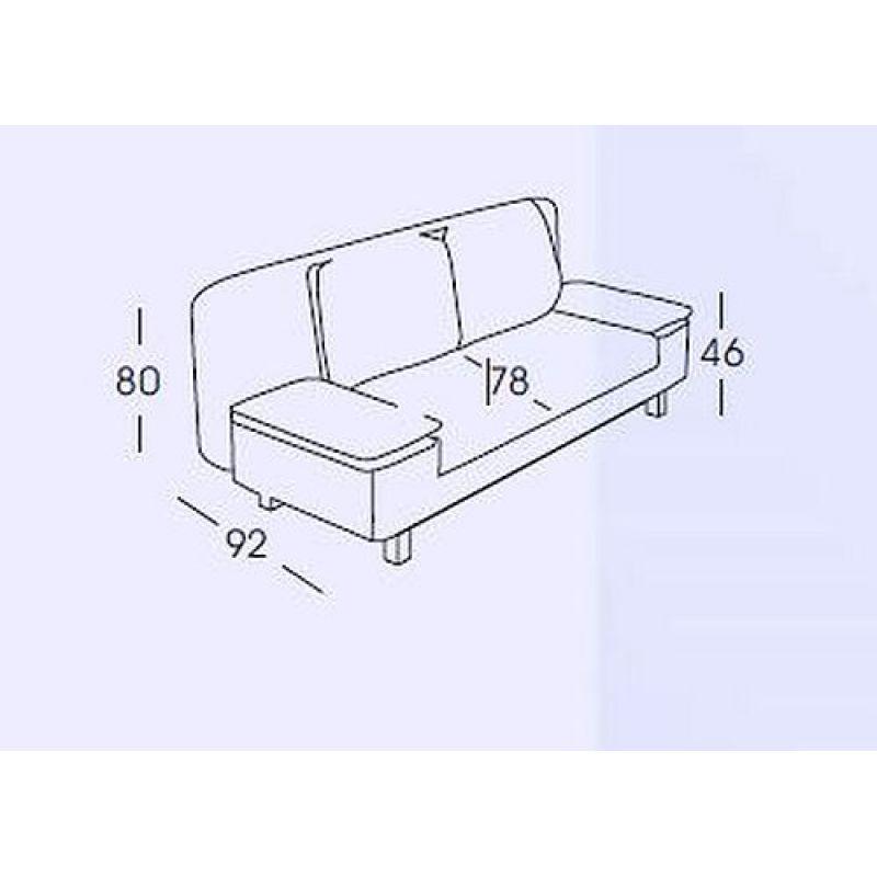sofa schlafsofa hellen incl r ckenkissen und armlehnenkissen mi. Black Bedroom Furniture Sets. Home Design Ideas