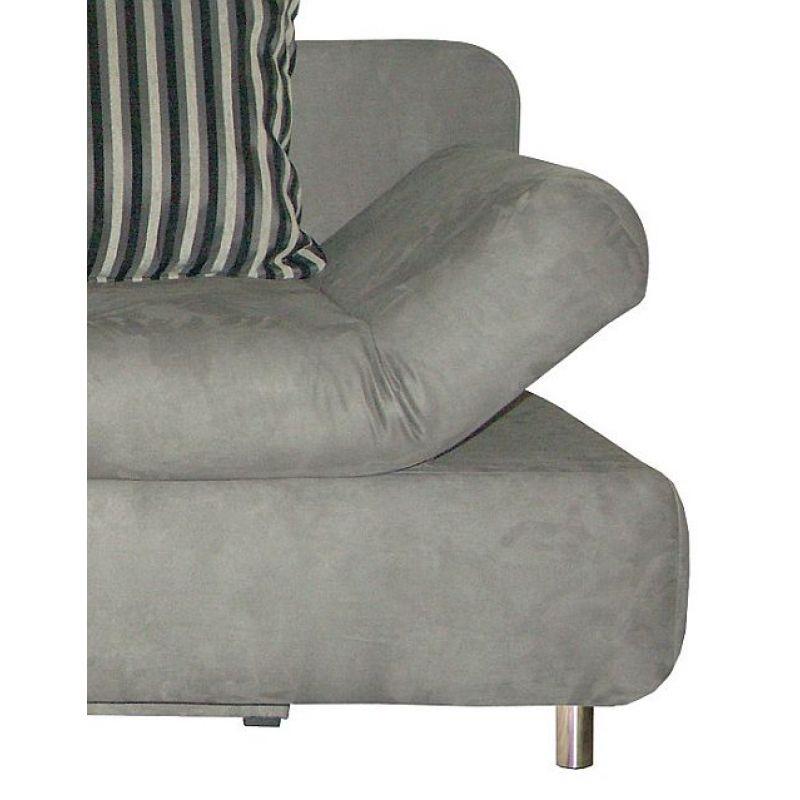 sofa schlafsofa hellen incl verstellbare armlehnen und r ckenki. Black Bedroom Furniture Sets. Home Design Ideas
