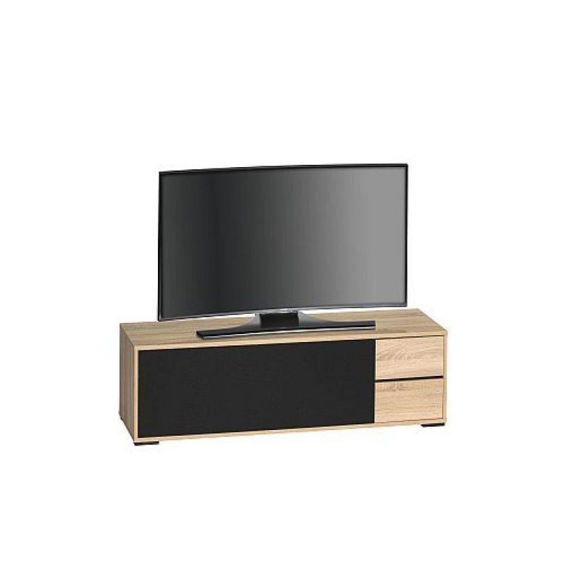 Tv Board Lowboard 1025 Sonoma Eiche Akustikstoff Schwarz 217 00 E