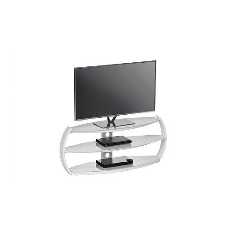 Tv Rack Weiß Uni Weißglas 125 X 509 X 385 Cm 1650