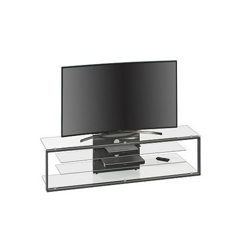 tv rack tv m bel metall anthrazit klarglas 1600 x 420 x 400. Black Bedroom Furniture Sets. Home Design Ideas