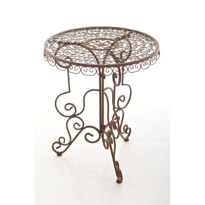 Tisch Gartentisch Outdoor Minore Antik Braun 75 00
