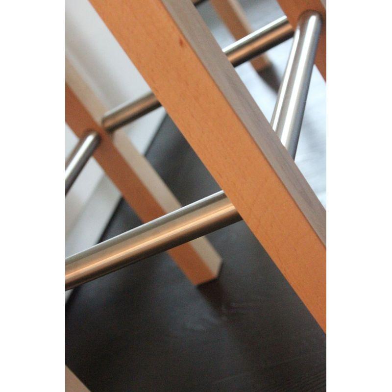 toms trendmoebel design barhocker mike mit lehne echt holz natur gebe. Black Bedroom Furniture Sets. Home Design Ideas