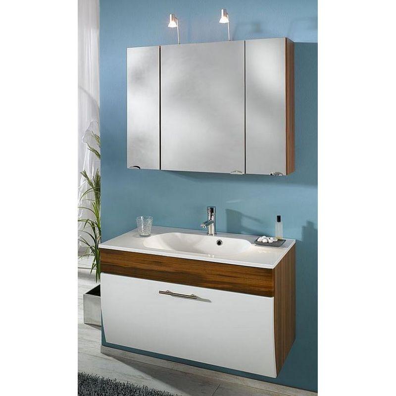 Gästebad Badezimmer Badmöbel Salona 1, komplett MDF Hochgl