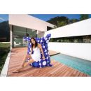 Sitzsack Nightflower blau Nylon 180 x 140 cm Indoor Outdoor