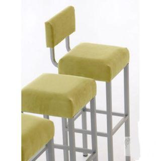 mayer barhocker cubus mit lehne 1137 perlsilber extra hoch lederausf. Black Bedroom Furniture Sets. Home Design Ideas