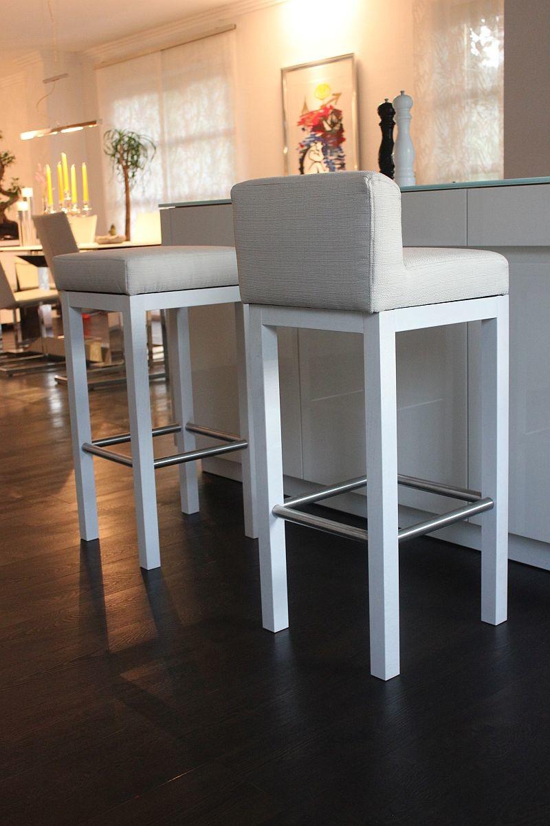 Toms Trendmoebel Design Barhocker Dani Echt Holz Weiss Landhausstil