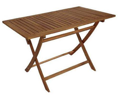 Klapptisch Gartentisch Holztisch Klappbar 70 X 120 Cm Aus