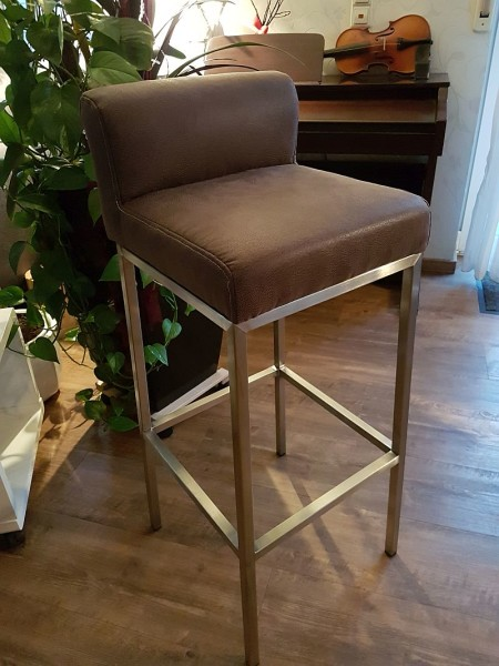 design barhocker zeta 425 verchromt kunstleder h 83 cm 85 00. Black Bedroom Furniture Sets. Home Design Ideas