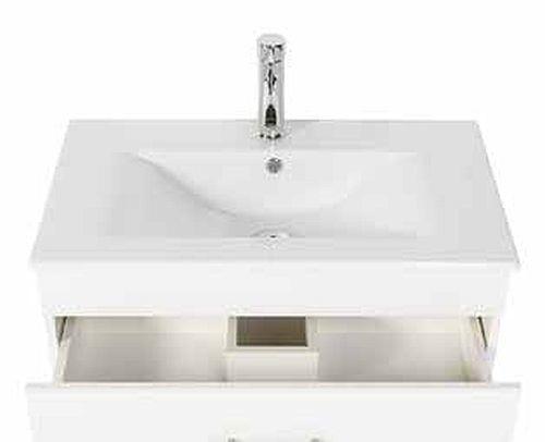 badmöbel badezimmer waschbecken waschplatz silvanus 750 weiß matt