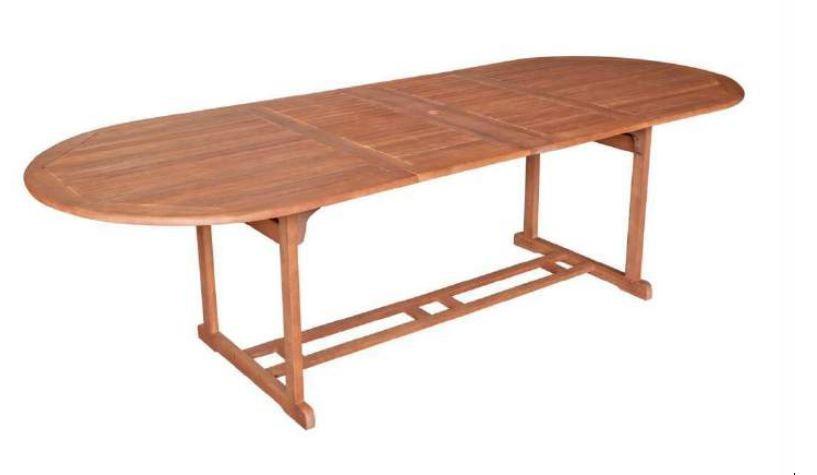 Ausziehtisch Gartentisch Holztisch Tisch Eukalyptusholz 180 260x100
