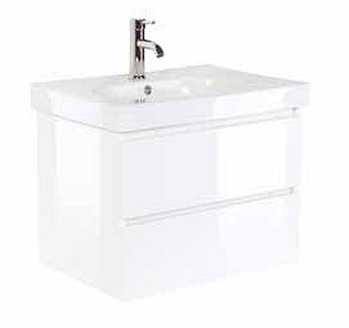 badmöbel badezimmer waschbecken waschplatz kali 70 weiß hochglanz