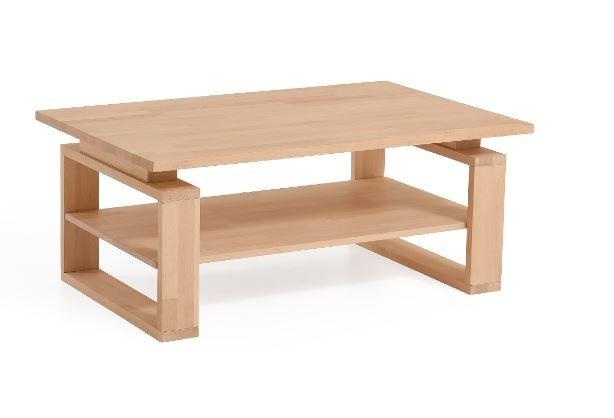 Moderner Massivholz Couchtisch Ct 050 B Mit Ablage 25500